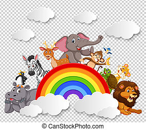 Animal on the rainbow