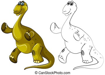 Animal outline for brachiosaurus dinosaur