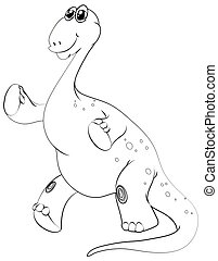 Animal outline for brachiosaurus