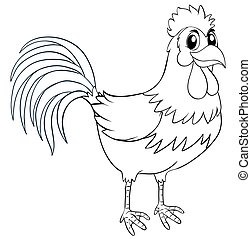 Animal outline for chicken