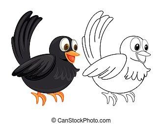 Animal outline for crow