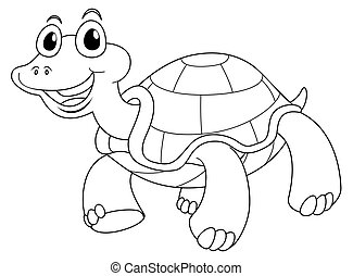Animal outline for cute turtle