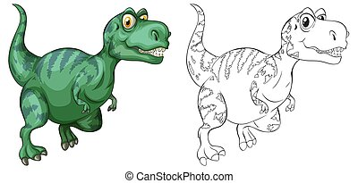 Animal outline for dinosaur