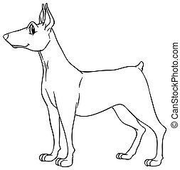 Animal outline for dog