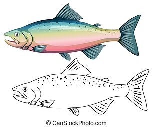 Animal outline for fish