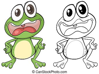Animal outline for frog