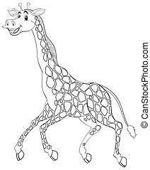Animal outline for giraffe running