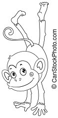Animal outline for monkey