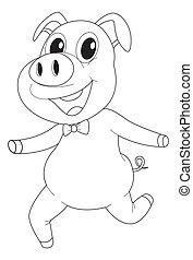 Animal outline for pig