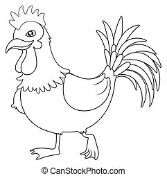 Animal outline for rooster