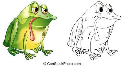 Animal outline for sad frog