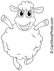 Animal outline for sheep