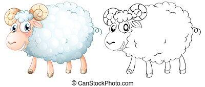 Animal outline for sheep