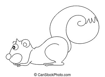 Animal outline for squirrel