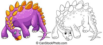 Animal outline for stegosaurus