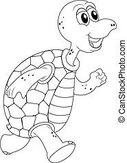 Animal outline for turtle