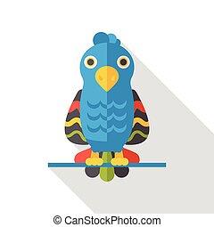 Animal Parrot flat icon