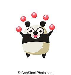 animal partie, ours panda, icône