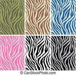 animal pattern - seamless animal pattern in four different...