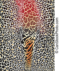 animal pattern printed background