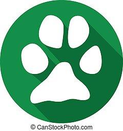 animal paw flat icon