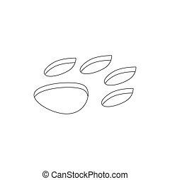 Animal paw icon, isometric 3d style