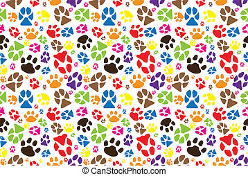 Animal paw pattern - JPG color illustration of animal paw ...