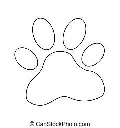 animal paw print icon