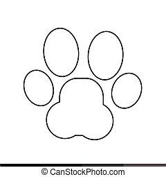 Animal Paw Print Icon Illustration design