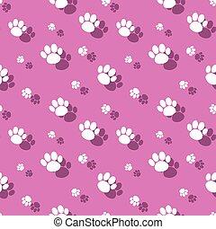 Animal Paw Print Seamless Background Pattern