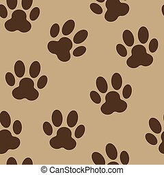 Animal Paw Seamless Pattern Background Vector Illustration