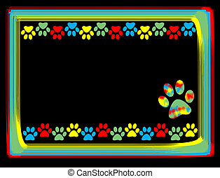 Animal paws border