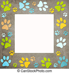Animal paws   frame