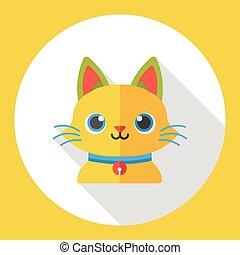animal pet cat flat icon