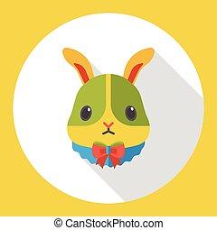 animal pet rabbit flat icon