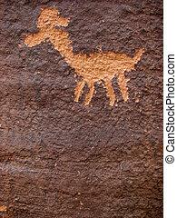 animal petroglyph