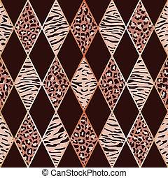 Animal Pink and Maroon Geometric Seamless Pattern