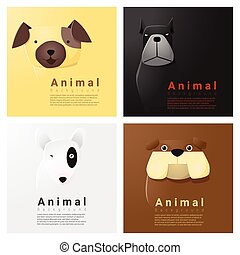 Animal portrait collection with dogs 2