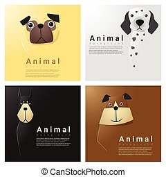 Animal portrait collection with dogs 4
