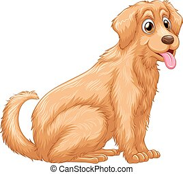 Animal - Poster of a dog in a sitting pose