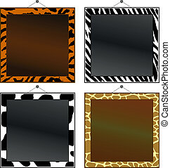 Animal print frames - Four animal print frames to put your...