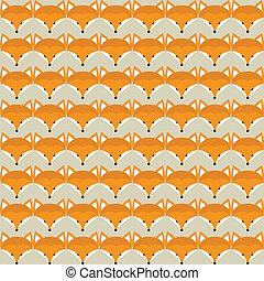 Animal print. Seamless pattern with cute fox faces.