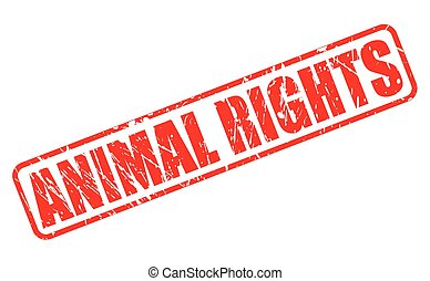 Animal Rights red stamp text