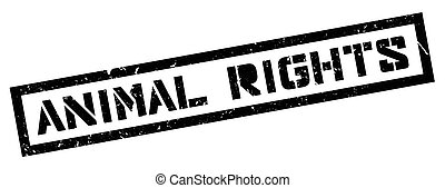 Animal Rights rubber stamp on white. Print, impress,...