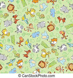 Animal Safari Seamless Pattern