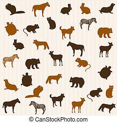 animal, seamless, patrón