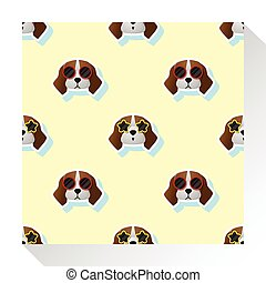 Animal seamless pattern collection with beagle dog 1