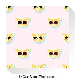 Animal seamless pattern collection with cat 1