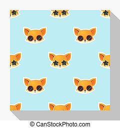 Animal seamless pattern collection with fox 1