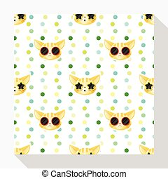 Animal seamless pattern collection with cat